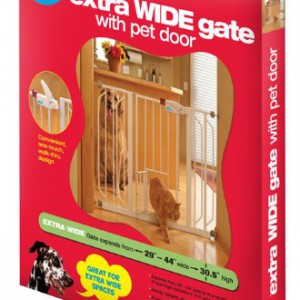 Carlson-0930PW-Extra-Wide-Walk-Thru-Gate-with-Pet-Door-White-0-1