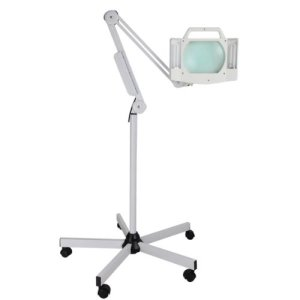 5x-Magnification-16-Diopter-Facial-5x7in-Magnifying-Lens-Rotatable-Magnifier-Adjustable-Floor-Lamp-w-5-wheel-Stand-for-Reading-Art-Craft-Nail-Skin-Salon-Spa-0-1