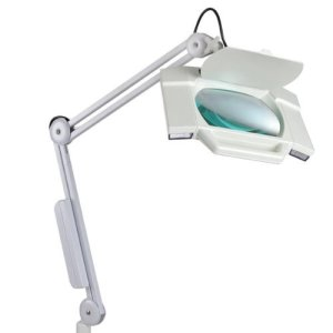 5x-Magnification-16-Diopter-Facial-5x7in-Magnifying-Lens-Rotatable-Magnifier-Adjustable-Floor-Lamp-w-5-wheel-Stand-for-Reading-Art-Craft-Nail-Skin-Salon-Spa-0-2