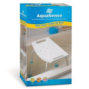 AquaSense-Adjustable-Bath-and-Shower-Chair-with-Non-Slip-Seat-White-0-1
