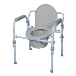 Drive-Medical-Folding-Bedside-Commode-Seat-with-Commode-Bucket-and-Splash-Guard-Powder-Blue-0