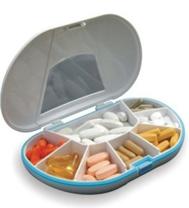 Gasketed-VitaCarry-8-Compartment-Pill-Box-Holds-Up-To-150-Pills-Waterproof-Color-White-0