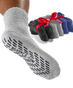 Non-Skid-Socks-Hospital-Socks-6-Pack-Unisex-Pack-BlackGreyNavy-One-Size-0