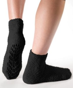 Non-SkidSlip-Socks-Hospital-Socks-Slipper-Socks-for-Women-and-Men-Black-One-Size-0