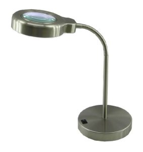 Normande-Lighting-Daylight-Desk-Lamp-w-Magnifier-14-in-Height-with-Brushed-Steel-Finish-0