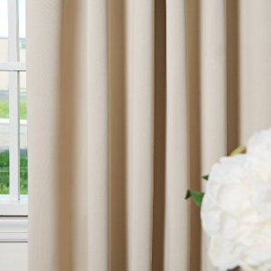 Best-Home-Fashion-Beige-Grommet-Top-Thermal-Insulated-Blackout-Curtain-52-W-X-63-L-1-Pair-GT-0-0
