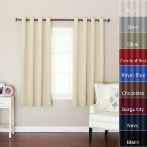 Best-Home-Fashion-Beige-Grommet-Top-Thermal-Insulated-Blackout-Curtain-52-W-X-63-L-1-Pair-GT-0