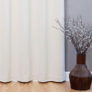 Best-Home-Fashion-Beige-Wide-Width-Grommet-Top-Thermal-Blackout-Curtain-100W-X-84L-1-Panel-BWW-0-2