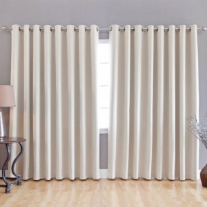Best-Home-Fashion-Beige-Wide-Width-Grommet-Top-Thermal-Blackout-Curtain-100W-X-84L-1-Panel-BWW-0-3