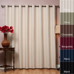 Best-Home-Fashion-Beige-Wide-Width-Grommet-Top-Thermal-Blackout-Curtain-100W-X-84L-1-Panel-BWW-0
