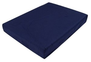 Duro-Med-Polyfoam-Wheelchair-Cushion-PolyCotton-Cover-Navy-3-Inch-x-16-Inch-x-18-Inch-0