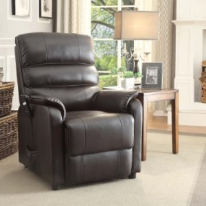 Homelegance-8545-1LT-Power-Lift-Recliner-Chair-Dark-Brown-Bonded-Leather-0-0