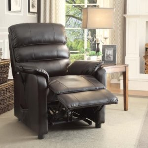 Homelegance-8545-1LT-Power-Lift-Recliner-Chair-Dark-Brown-Bonded-Leather-0-1
