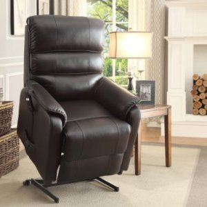 Homelegance-8545-1LT-Power-Lift-Recliner-Chair-Dark-Brown-Bonded-Leather-0-2
