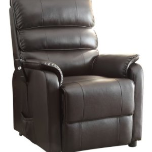 Homelegance-8545-1LT-Power-Lift-Recliner-Chair-Dark-Brown-Bonded-Leather-0