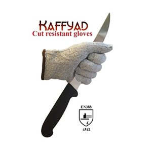 Kaffyad-TM-Level-5-Cut-Resistant-Kitchen-and-Work-Safety-Gloves-Protection-from-Knives-Mandolines-and-Graters-EN388-Certified-Great-for-cutting-meat-filleting-fish-or-shucking-oysters-Lightweight-Flex-0