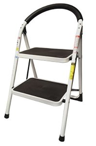 LavoHome-330lbs-Upper-Reach-Reinforced-Metal-Folding-Step-Ladder-Household-Kitchen-Stool-Two-Step-Ladder-0