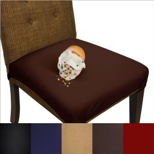 SmartSeat-Dining-Chair-Cover-and-Protector-Pack-of-2-Chocolate-Brown-Removable-Waterproof-Machine-Washable-Stain-Resistant-Soft-Comfortable-Fabric-for-Kids-Pets-Entertaining-Eldercare-Institutions-0
