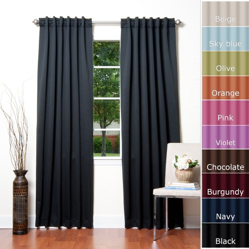 Solid thermal insulated blackout curtain 84 l x 52 w 1 for Thermal windows prices