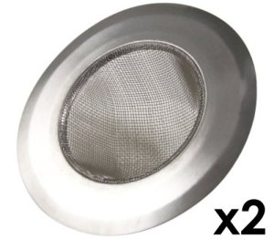 Stainless-Steel-Kitchen-Sink-Strainer-Set-of-2-Large-Wide-Rim-425-Diameter-Perfect-for-Kitchen-Sinks-0