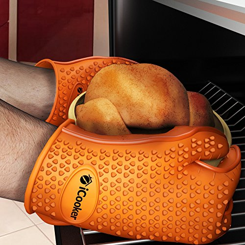 1 Cooking Gloves Heat Resistant High Temperature