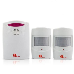 1byone-Safety-Driveway-Patrol-Infrared-Wireless-Home-Security-Alert-Alarm-System-Kit-One-Receiver-and-Two-Sensors-Type-QH-0338-0