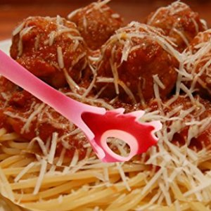 4-piece-Kitchen-Cooking-Utensil-Gadget-Set-Made-of-One-Piece-Silicone-Includes-Ladle-Slotted-Turner-Spoon-Pasta-Fork-0-2