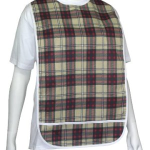 Adult-Vinyl-Adult-Bibs-with-Crumb-Catcher-Premium-Bib-Scottish-plaid-0