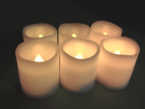 Battery Operated Candles 6 Unscented Small Flameless