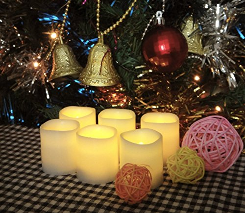battery operated candles 6 unscented small flameless candles - Christmas Decorations Battery Operated Candles