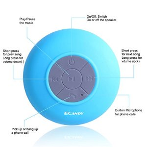 Bluetooth-Shower-Speaker-Water-Resistant-Hands-Free-Portable-Speakerphone-with-Built-in-Mic-6-Hours-of-Playtime-Bluetooth-30-Control-Buttons-and-Dedicated-Suction-Cup-for-Showers-Bathroom-Pool-Boat-Ca-0-0