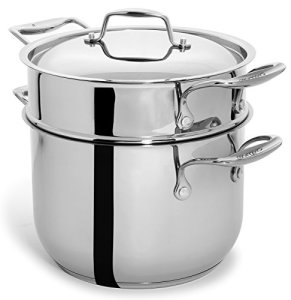 Culina-Pasta-Pot-Cookware-with-Insert-and-Lid-1810-Heavy-Gauge-Stainless-Steel-6-Quart-Silver-Dishwasher-Safe-0