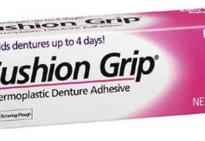 cushion grip denture adhesive instructions