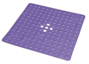 Essential-Medical-Supply-Shower-Mat-with-Drain-Transparent-Dark-Blue-0