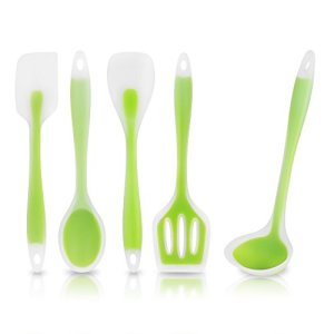 KitchCo-Cooking-Utensil-Set-5-Piece-Heat-Resistant-Non-Stick-Food-Grade-Silicone-0