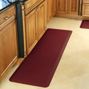 Smart-Step-Home-Collection-Fleur-de-Lys-Design-Mat-72-Inch-by-20-Inch-Burgundy-0