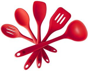 StarPack-Premium-Silicone-Utensil-Set-5-Piece-in-Hygienic-Solid-Coating-Bonus-101-Cooking-Tips-0
