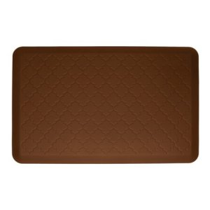 WellnessMats-36-inch-by-24-inch-Motif-Mat-Trellis-Brown-0