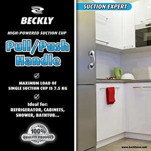 Beckly-Powerful-Suction-Cup-Handle-No-Tools-Necessary-Just-Turn-60-Degrees-and-place-on-any-Flat-Smooth-surface-For-Bath-Safety-and-Cabinet-Doors-Also-Fridge-Accessory-Beautiful-Modern-Design-to-Match-0-1