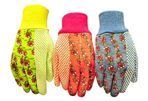 G-F-1852-3-Women-Soft-Jersey-Garden-Gloves-3-Pairs-GreenPinkBlue-per-Pack-0