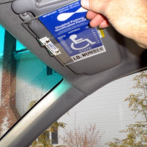 Handicap Placard Cover And Holder Horizontal Visortag Vtdh Easily Display Swing Away Your Disabled Parking Placard Best Handicapped Parking Tag Holder And Protector Available Dont Settle For A Chea