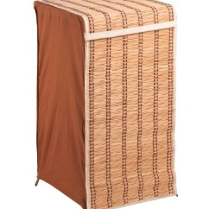 Honey-Can-Do-HMP-01619-Tall-Wicker-Weave-Hamper-Bamboo-Laundry-Organizer-0-0