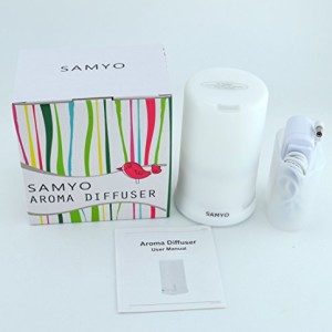 Samyo-100ml-Aromatherapy-Essential-Oil-Purifier-Diffuser-Air-Humidifier-with-4-Timer-Settings-6-Colors-Changing-Light-0-0
