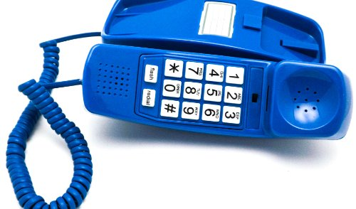 Trimline Phone Classic Blue Durable Retro Novelty